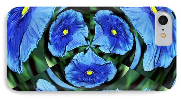 Pansy In Triplicate IPhone Case by Kaye Menner