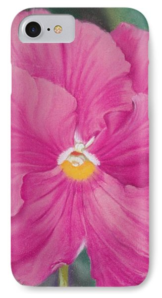 Pansy Iv Phone Case by Loueen Morrison