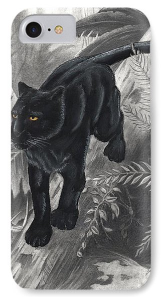 Panther By The Water Phone Case by Christian Conner
