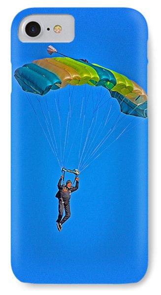 Parachuting Phone Case by Karol Livote