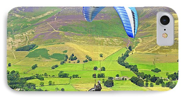 Paragliding Off Mam Tor 01 Phone Case by Rod Johnson