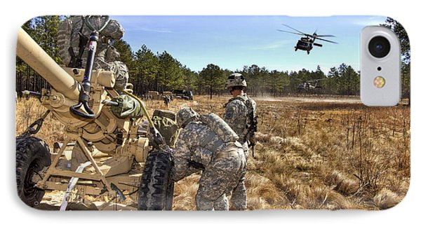 Paratroopers Prepare To Hook Up An Phone Case by Stocktrek Images