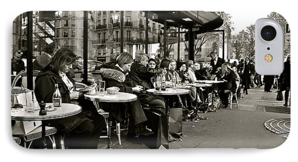 IPhone Case featuring the photograph Paris Cafe by Eric Tressler