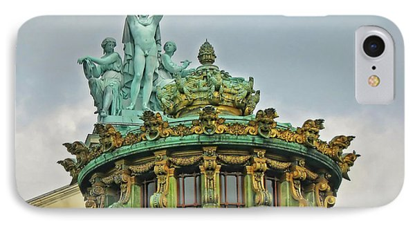 IPhone Case featuring the photograph Paris Opera House Roof by Dave Mills