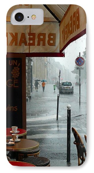 Paris Pluie IPhone Case by Rdr Creative