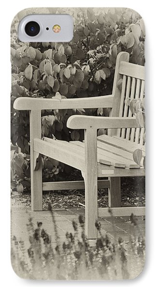 Park Bench IPhone Case by Bill Barber