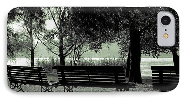 Park Benches In Autumn Phone Case by Joana Kruse