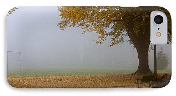 Park In Autumn Phone Case by David Buffington