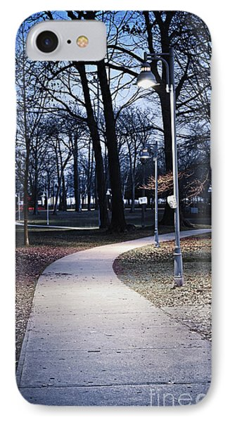 Park Path At Dusk IPhone Case by Elena Elisseeva