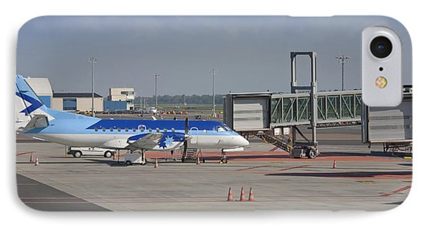 Parked Airplane At An Airport Gate Phone Case by Jaak Nilson