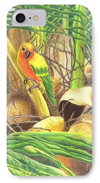 Parrot In Palm Phone Case by Norma Gafford