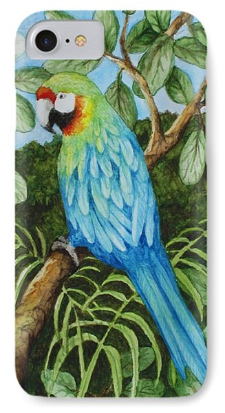 Parrot IPhone Case by Katherine Young-Beck