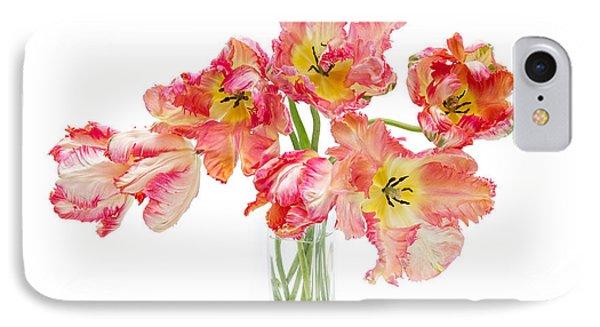 Parrot Tulips In A Glass Vase Phone Case by Ann Garrett