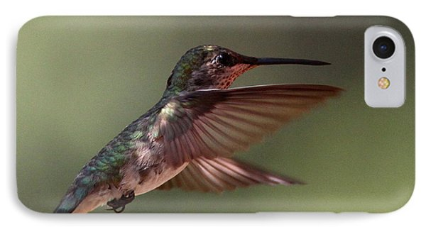 Partial Shade For The Ruby- Throated Hummingbird Phone Case by Travis Truelove
