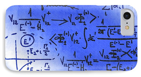 Particle Physics Equations Phone Case by Ria Novosti