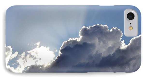 Partly Cloudy IPhone Case by Rebecca Margraf