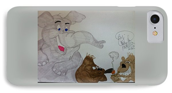 Partying Animals Cartoon IPhone Case