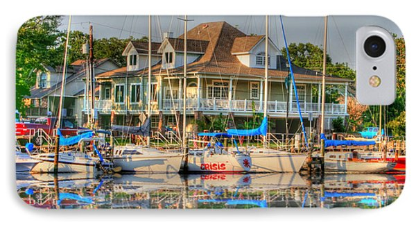 Pascagoula Boat Harbor IPhone Case by Barry Jones
