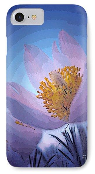 Pasque Flower Phone Case by Vivian Christopher