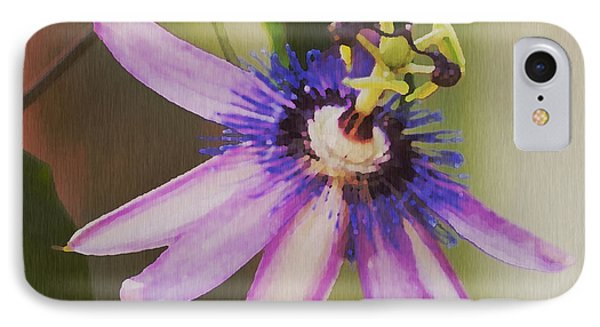 Passion Flower Phone Case by Artist and Photographer Laura Wrede