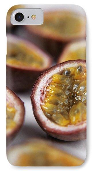 Passion Fruit Halves Phone Case by Veronique Leplat
