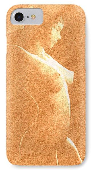 Pastel Chiaroscuro Nude Phone Case by Hakon Soreide