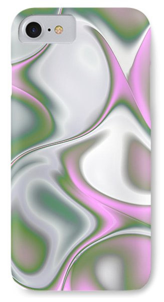 Pastel Colored Teardrop Fractal Phone Case by Gina Lee Manley