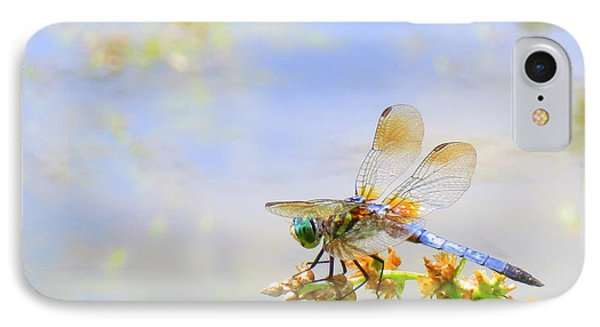 IPhone Case featuring the photograph Pastel Dragonfly by Deborah Smith