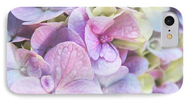 IPhone Case featuring the photograph Pastel Hydrangeas - Square by Kerri Ligatich