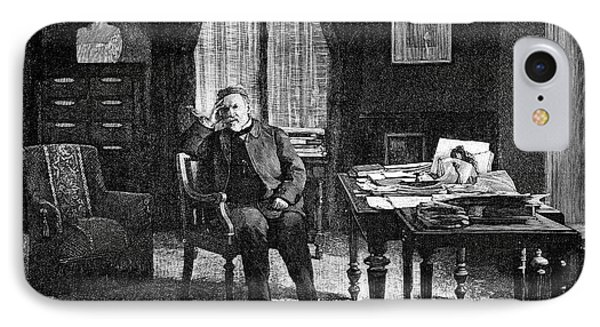 Pasteur In His Study, 19th Century Phone Case by