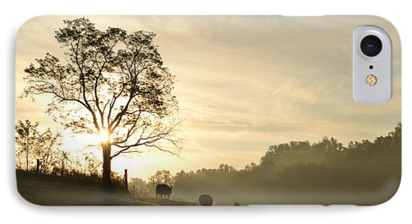 IPhone Case featuring the photograph Pasture Sunrise by JD Grimes