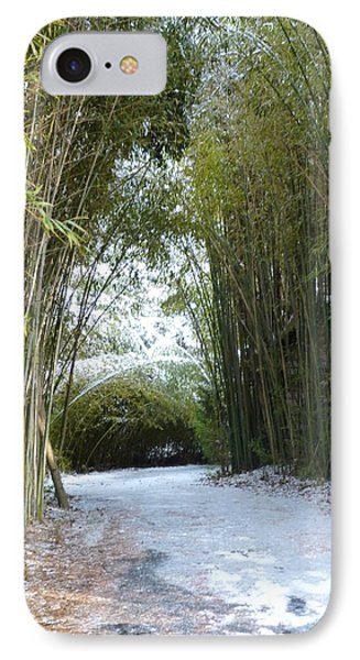 Path In Bamboo Field Phone Case by Renee Trenholm