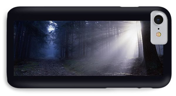 Path Through A Misty Forest IPhone Case by Ulrich Kunst And Bettina Scheidulin