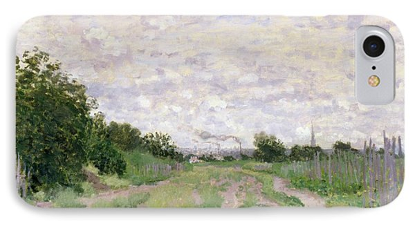 Path Through The Vines At Argenteuil Phone Case by Claude Monet