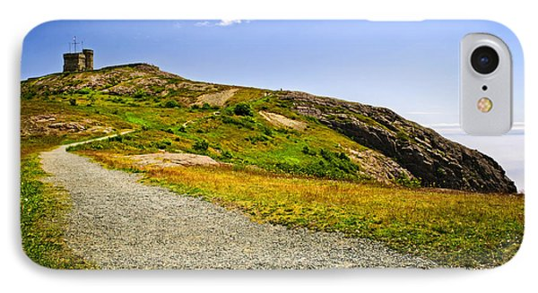 Path To Cabot Tower On Signal Hill IPhone Case by Elena Elisseeva