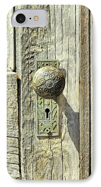 IPhone Case featuring the photograph Patina Knob by Fran Riley