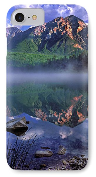Patricia Lake Banff Canada Phone Case by Dave Mills