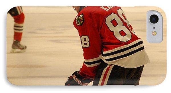 Patrick Kane - Chicago Blackhawks IPhone Case by Melissa Goodrich