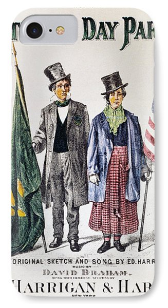 Patricks Day: Music, 1873 IPhone Case by Granger