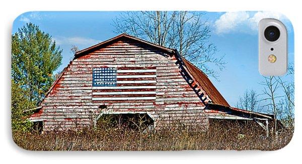 Patriotic Barn Phone Case by Susan Leggett