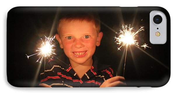 IPhone Case featuring the photograph Patriotic Boy by Kelly Hazel