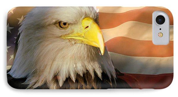 Patriotic Eagle Phone Case by Marty Koch