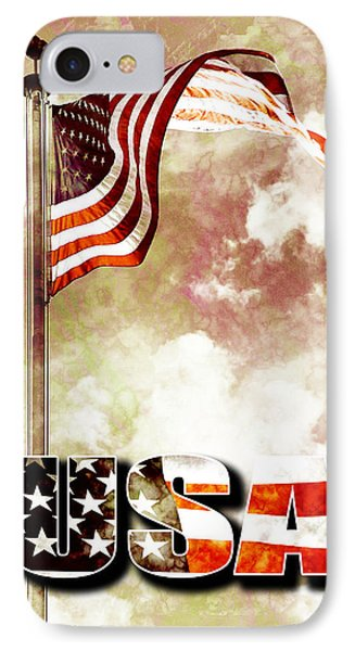 Patriotism The American Way Phone Case by Phill Petrovic