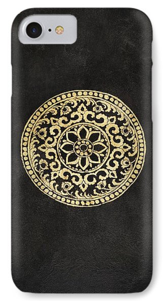 Pattern In Tapestry At Wat Chedi Luang IPhone Case by Keith Levit