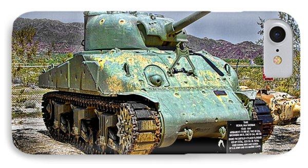 IPhone Case featuring the photograph Patton M4 Sherman by Jason Abando