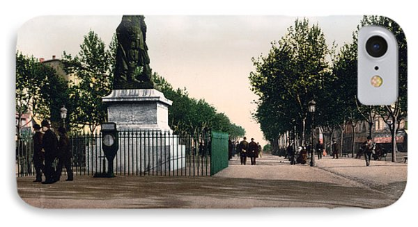 Paul Riquet Statue And The Allees In Beziers - France Phone Case by International  Images