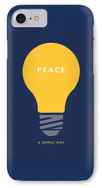 IPhone Case featuring the digital art Peace A Simple Idea by David Klaboe
