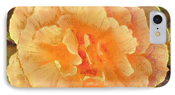 IPhone Case featuring the painting Peach Begonia by Richard James Digance