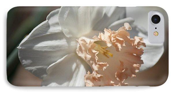 Peach Ruffle Daffodil 1 Phone Case by Teresa Mucha