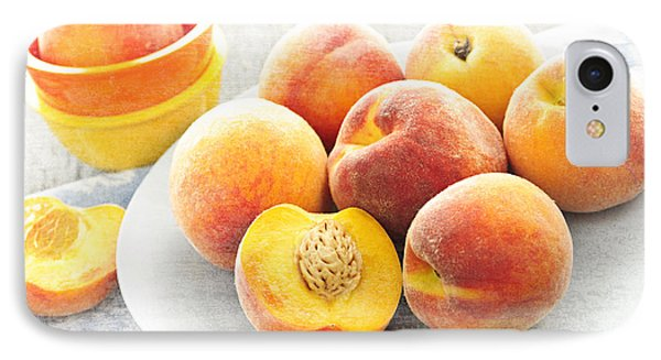 Peaches On Plate Phone Case by Elena Elisseeva
